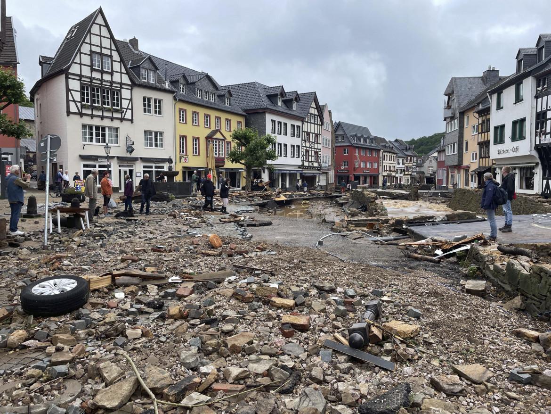 Le strade devastate di Bad Muenstereife