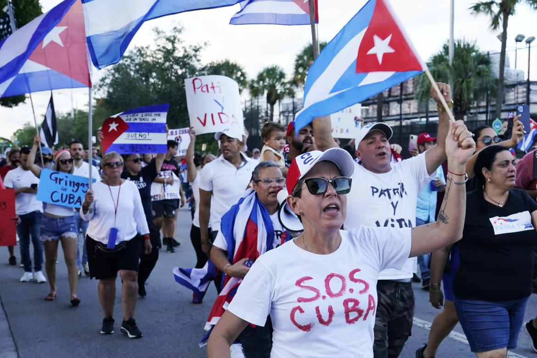 Protesta contro Cuba a Miami