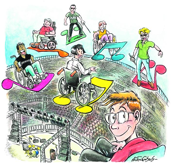 L'illustrazione di Antonio Cabras che supporta la petizione