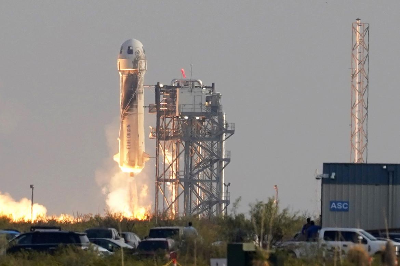 La navicella New Shepard di Jeff Bezos