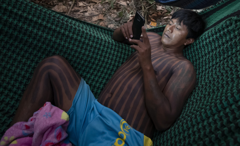 Un membro della comunità Kayapo a Novo Progresso (Parà)