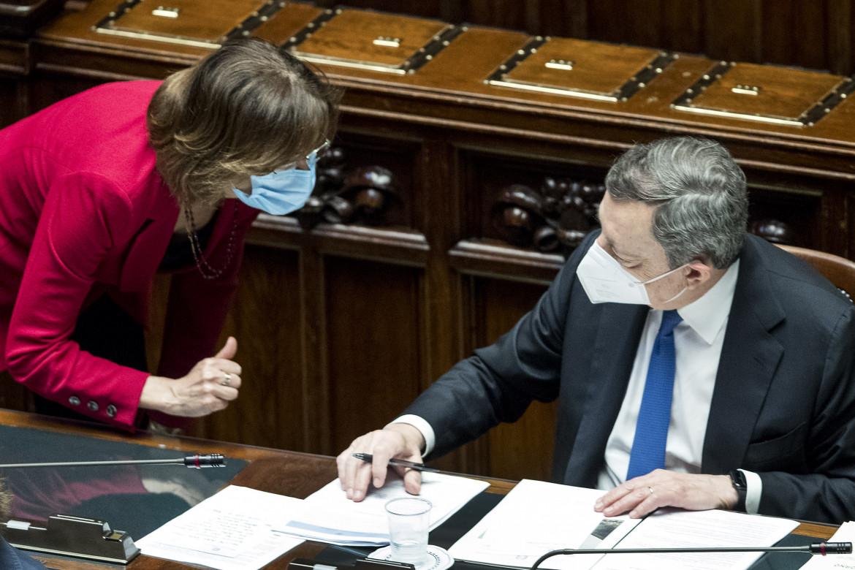 La guardasigilli Marta Cartabia e il premier Mario Draghi