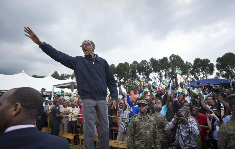 Paul Kagame,  presidente ruandese dal 2000