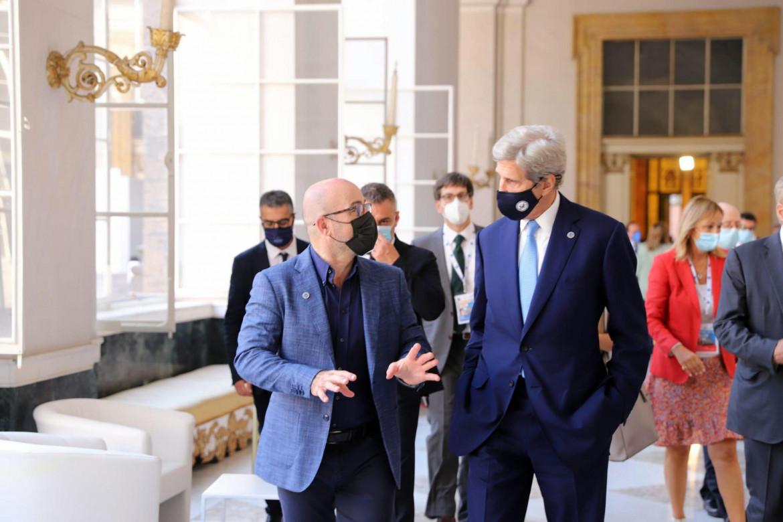 Roberto Cingolani e John Kerry