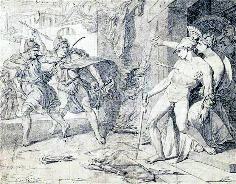 Philippe Chery, «The Death of Alcibiade», circa 1800
