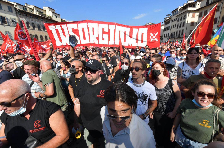 La manifestazione a Firenze a sostegno della Gkn