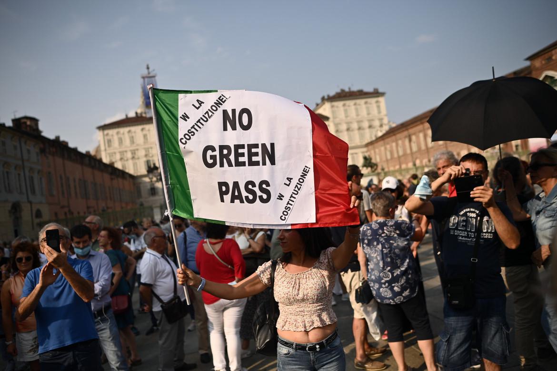 Manifestazione contro il green pass