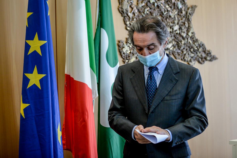 Il presidente della Regione Lombardia, Attilio Fontana
