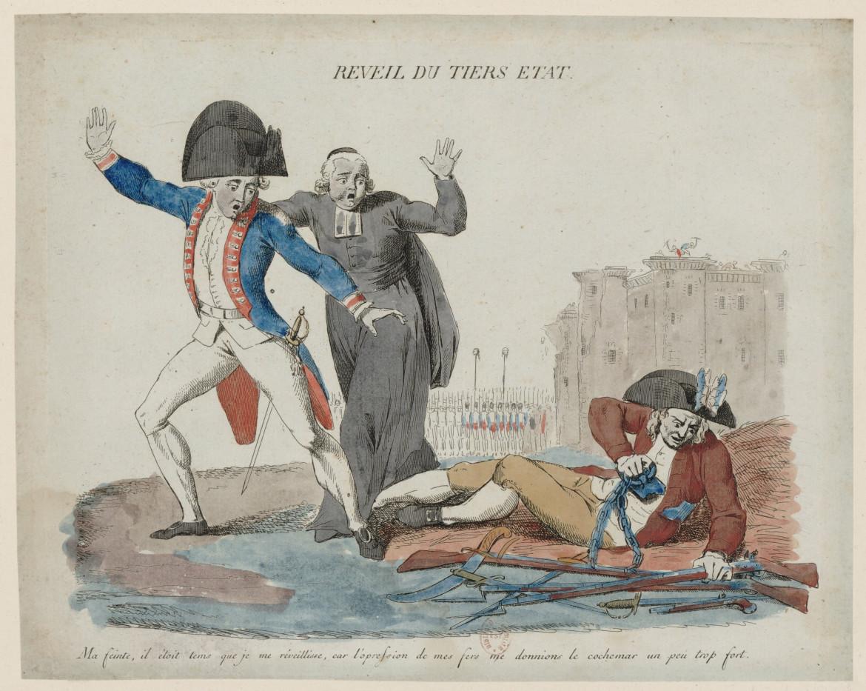 Il risveglio del Terzo stato, stampa popolare, 1789, Parigi, Bibliothèque nationale de France
