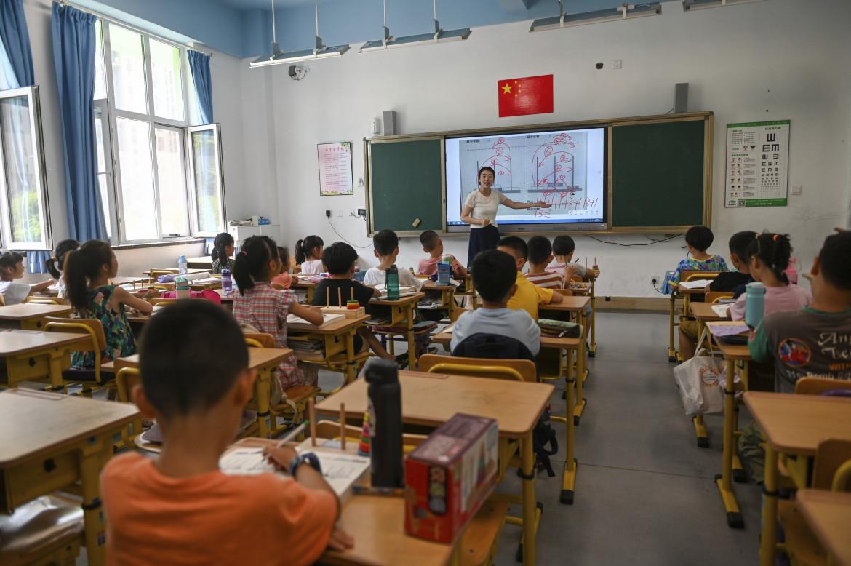 Classe delle scuole elementari in Cina