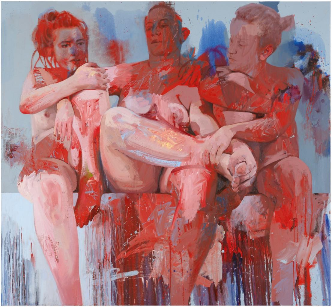 Jenny Saville, «Red Fates», 2018
