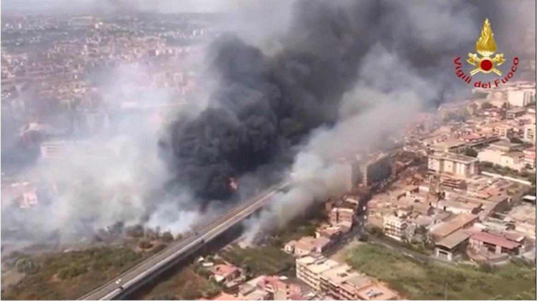 L'incendio a Portella della Ginestra