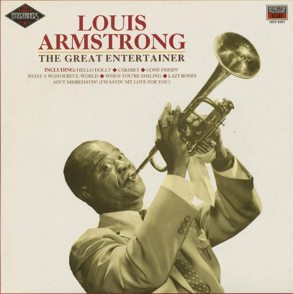La copertina della raccolta «Louis Armstrong: The Great Entertainer» (Emi, 1989)