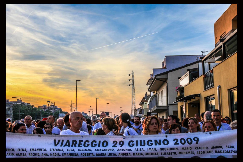 Commemorazione strage ferroviaria Viareggio nel 2015
