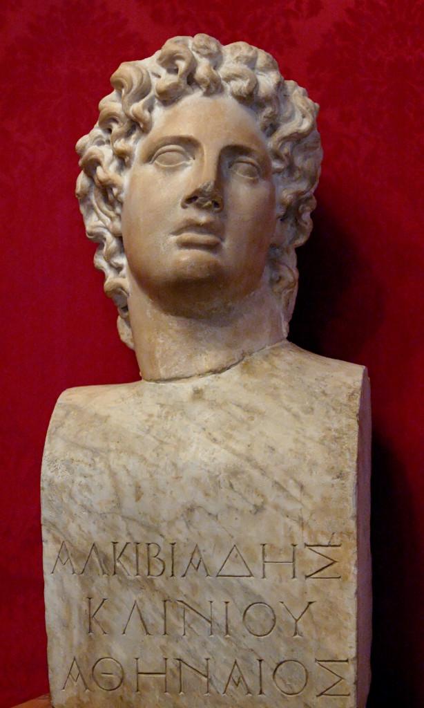 Alcibiade, copia romana di un busto greco  del IV secolo a.C., Roma, Musei Capitolini,  Palazzo dei Conservatori
