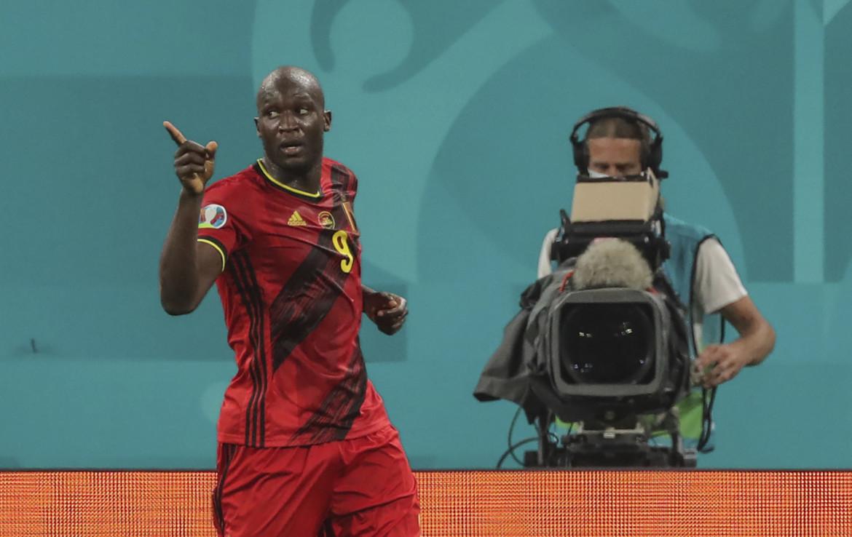 Il centravanti del Belgio, Romelu Lukaku, nella sfida contro la Finlandia