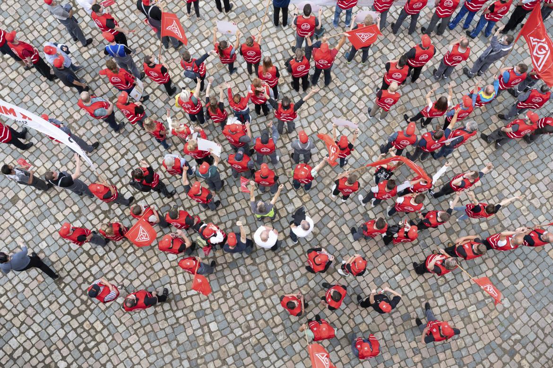 Dresda, sciopero all'Ig Metall (giugno 2021)