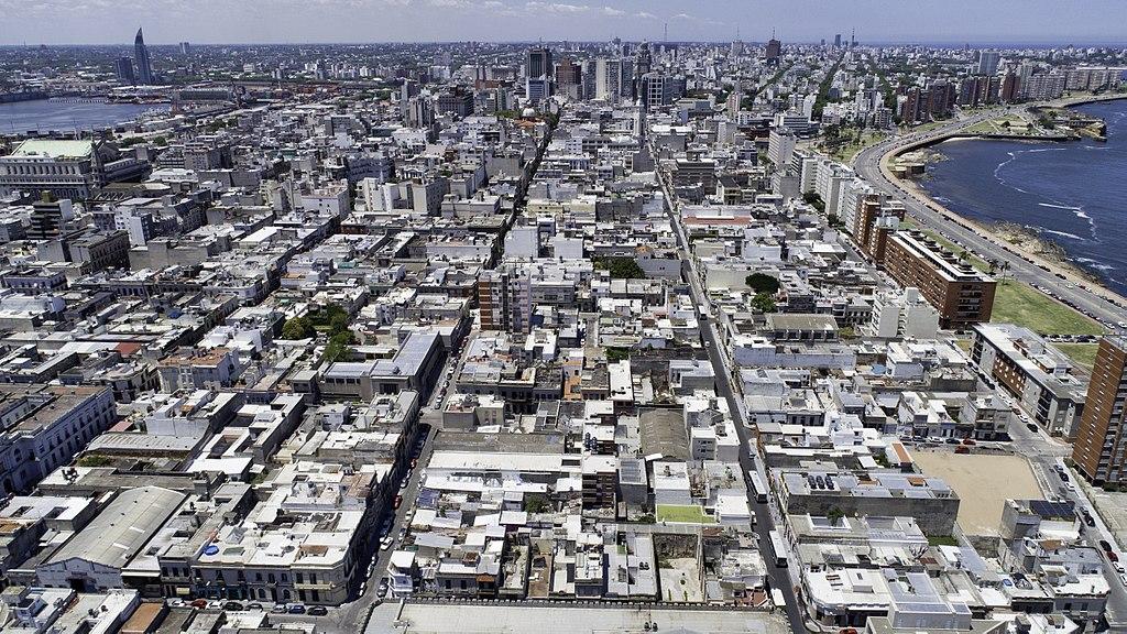 Immagine aerea della Ciudad Vieja di Montevideo