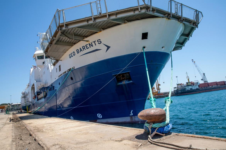 La Geo Barents nel porto di Augusta