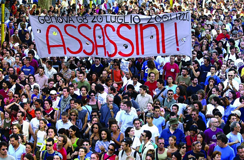 Manifestazione a Genova