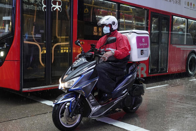 Un rider a Hong Kong