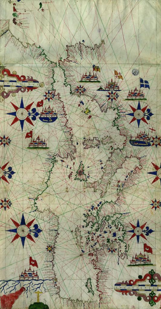 Scuola maiorchina, Carta nautica del Mediterraneo, XVII secolo