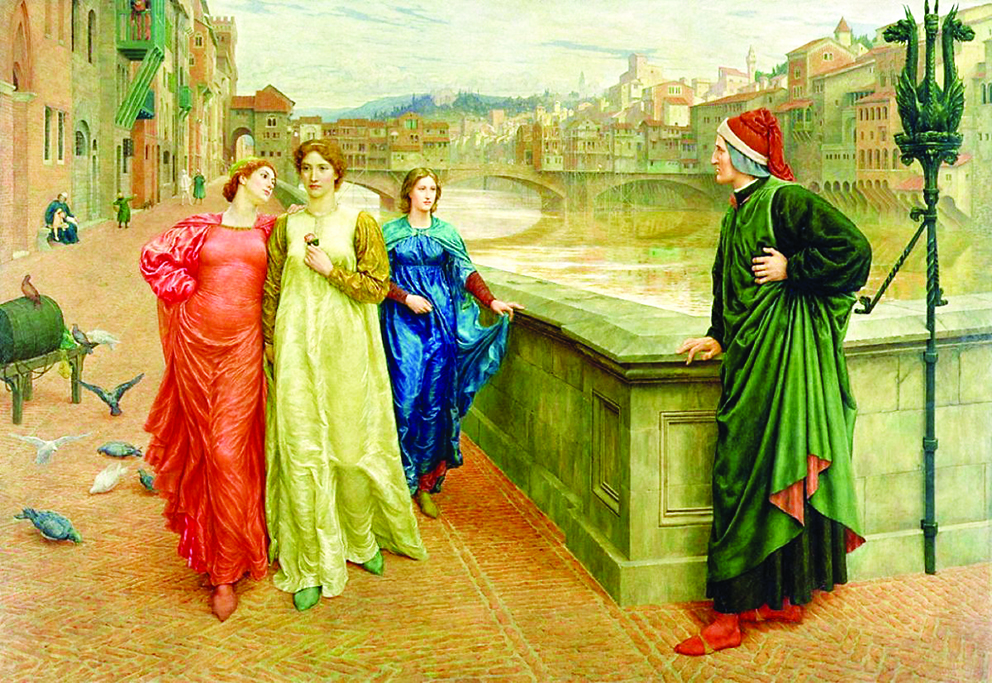 «Dante and Beatrice» di Henry Holiday, 1883