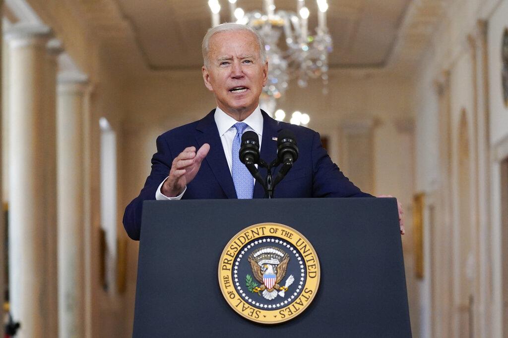 Il discorso alla nazione del presidente Joe Biden, ieri alla Casa bianca