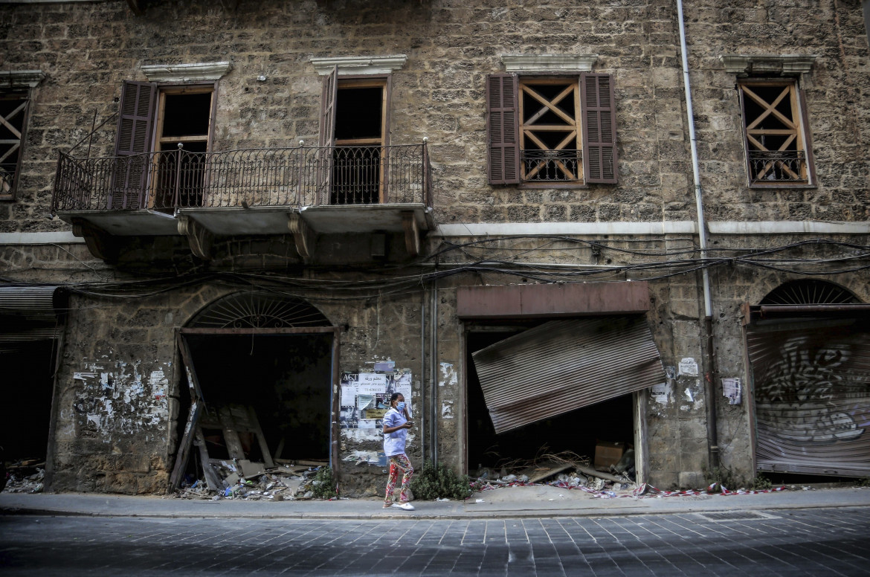 Un edficio mai ricostruito nel quartiere di Gemmayzeh a Beirut