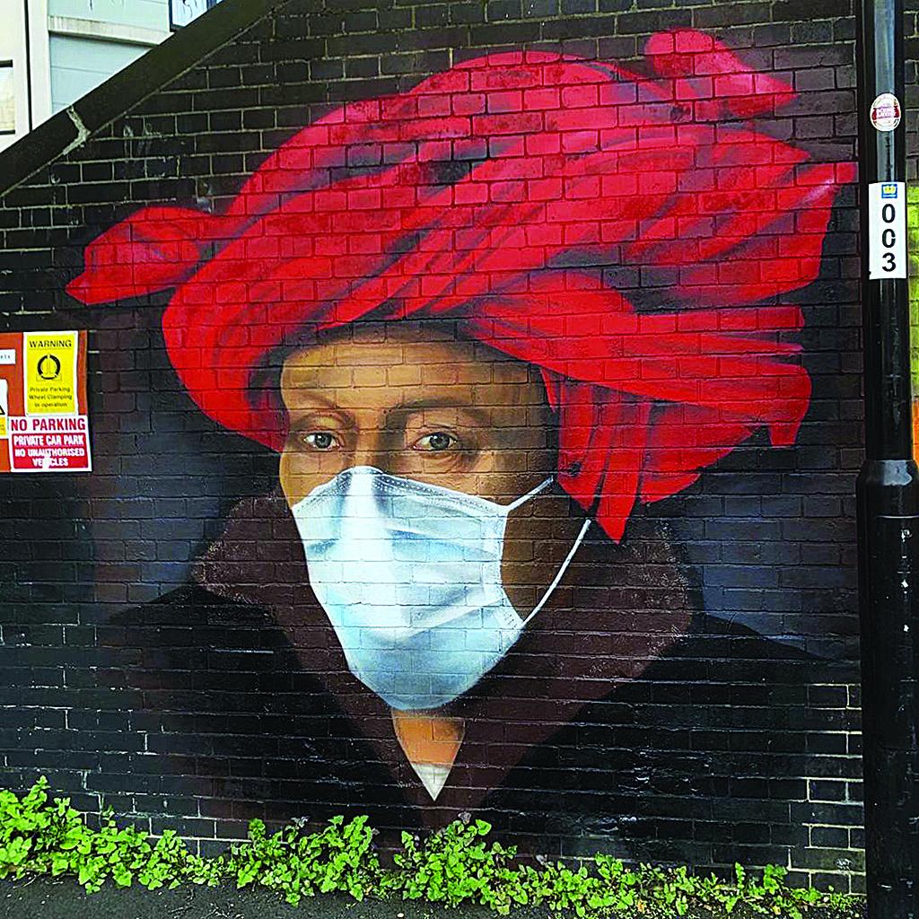 La pandemia, murales di Lionel Stanhope