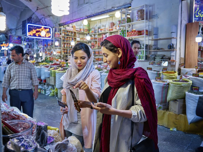 Il gran bazar nella città di Isfahan, nel sud dell'Iran