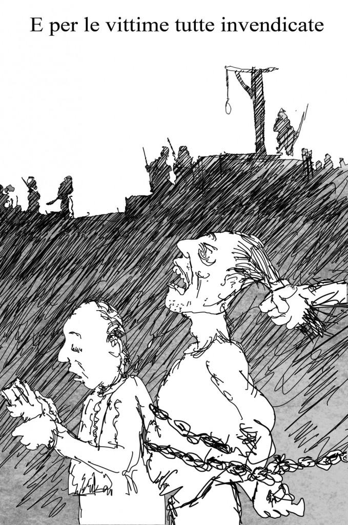 Una delle ventuno tavole di Sergio Staino che illustrano il volume «Storie e amori d'anarchie»