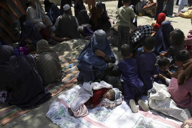 Sfollati afghani a causa dell'avanzata talebana