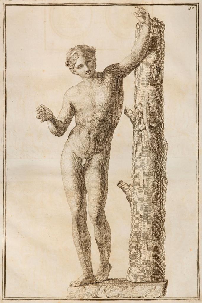 Autore anonimo, Statua di Apollo con la lucertola, collezione m.a.x. museo Chiasso