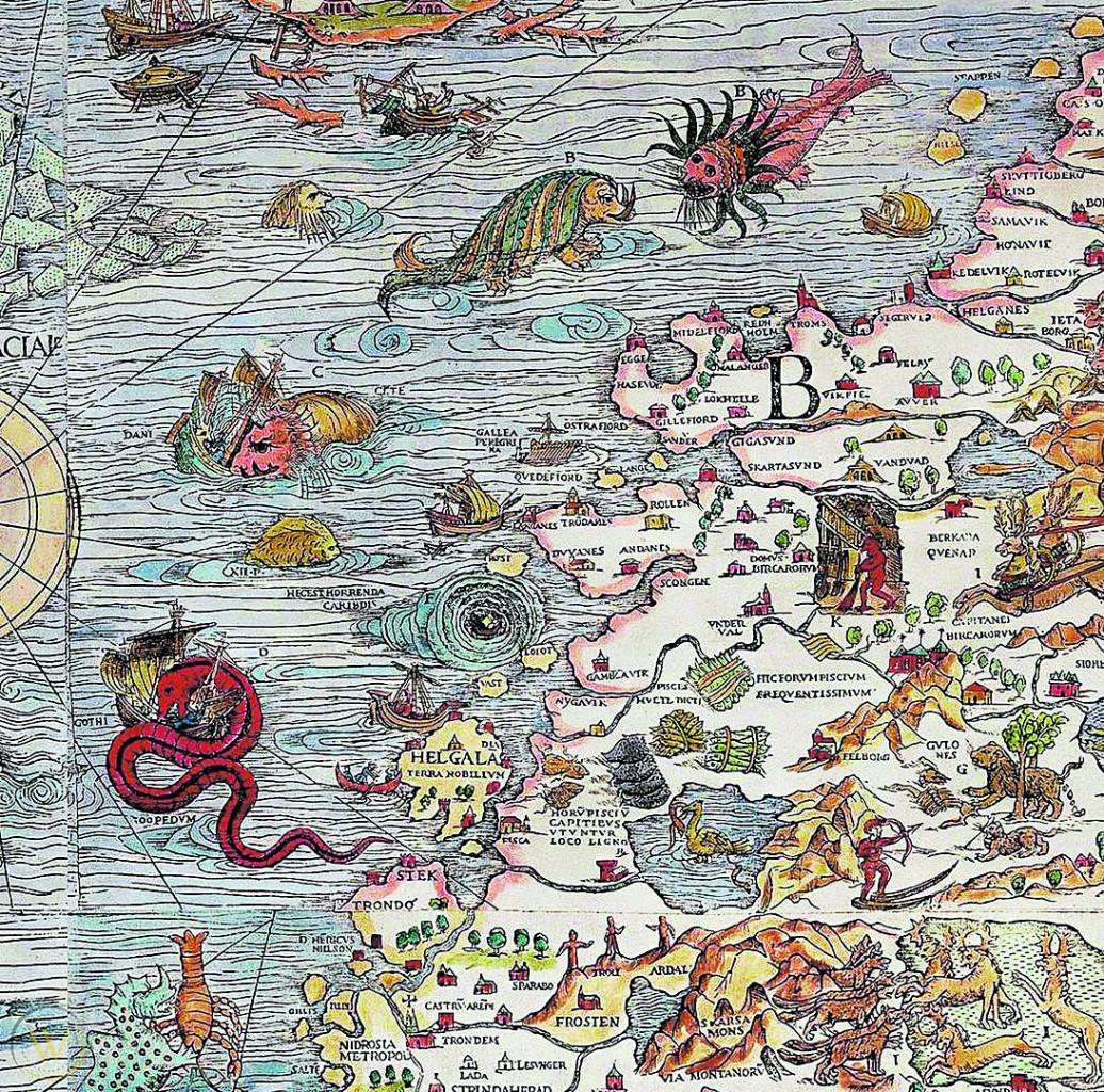 Olaus Magnus, «Carta marina», 1539