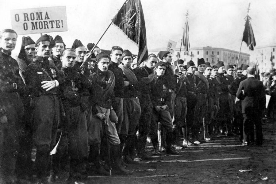 Un'immagine della «Marcia su Roma» del 28 ottobre 1922