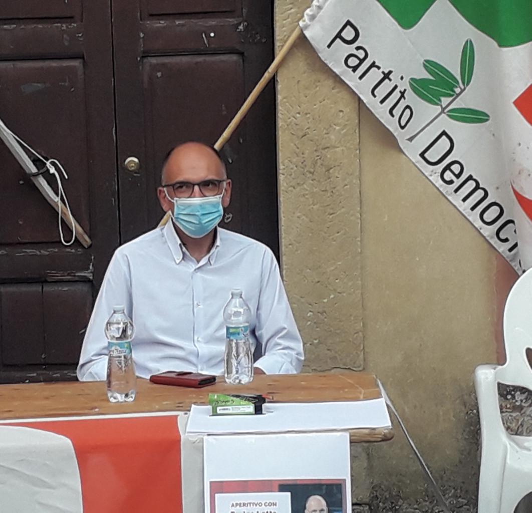 Il comizio di Enrico Letta a Trequanda (Siena)