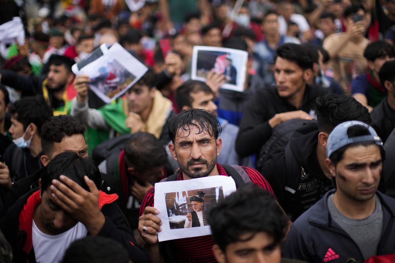 Bruxelles, manifestazione di afghani in solidarietà con il loro paese