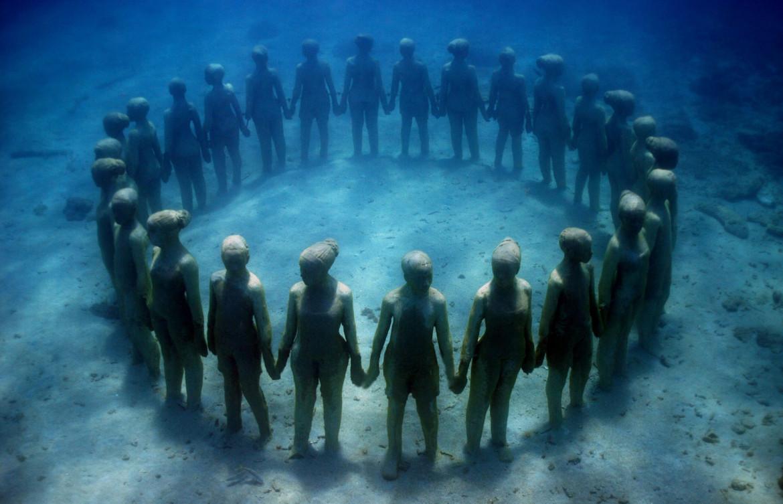 Jason de Caires Taylor, installazione sottomarina, Grenada, 2014