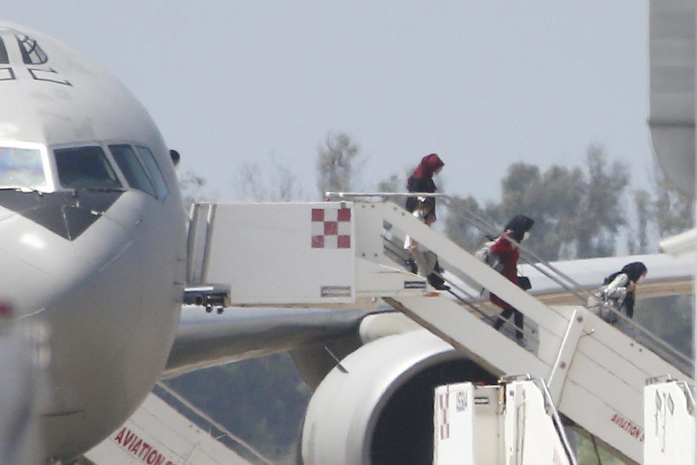 Fiumicino, atterraggio di uno dei voli di evacuazione dall'Afghanistan
