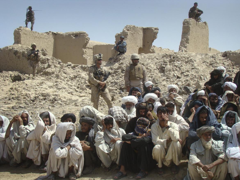 Soldati Usa in guerra nella provincia  di Helmand  nell'agosto 2011