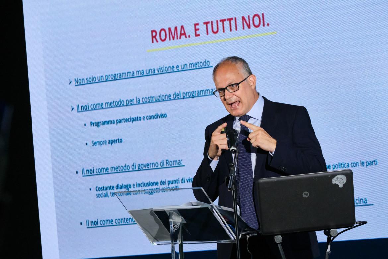 Roberto Gualtieri alla presentazione del programma per Roma