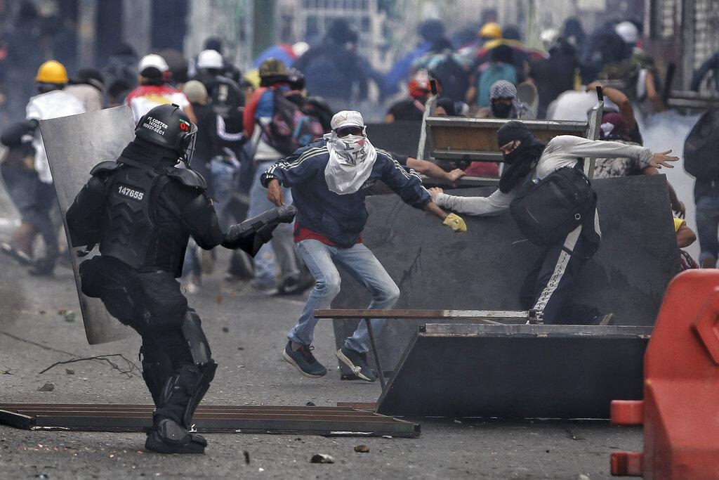 Protesta a Cali, Colombia