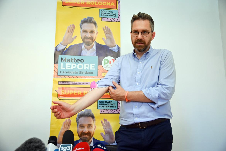 Il candidato sindaco del centrosinistra a Bologna Matteo Lepore