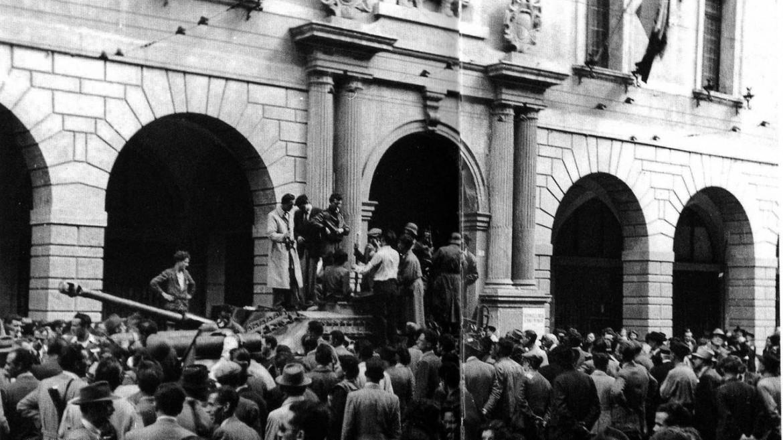 Un'immagine della liberazione di Padova
