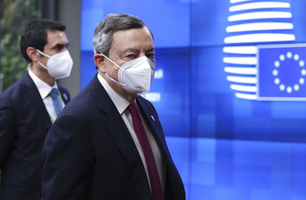 Mario Draghi a Bruxelles