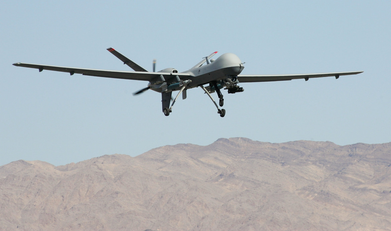Un drone statunitense in volo sull'Afghanistan