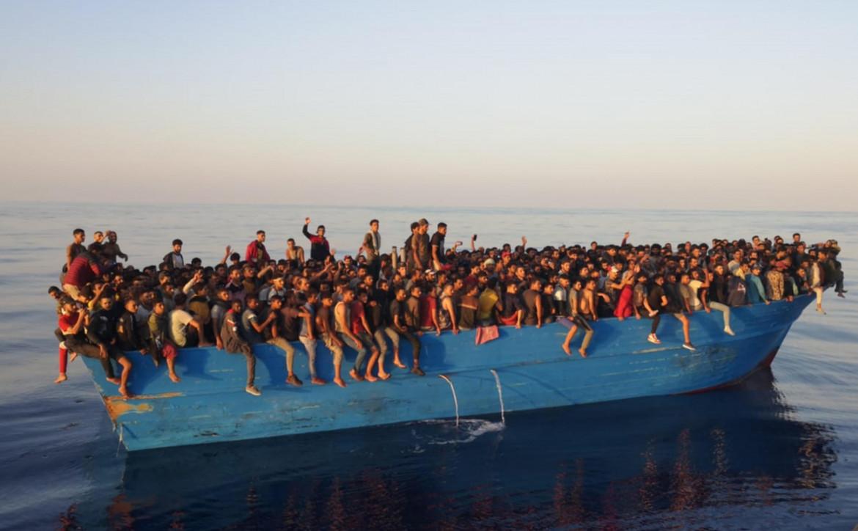 Il barcone arrivato ieri a Lampedusa