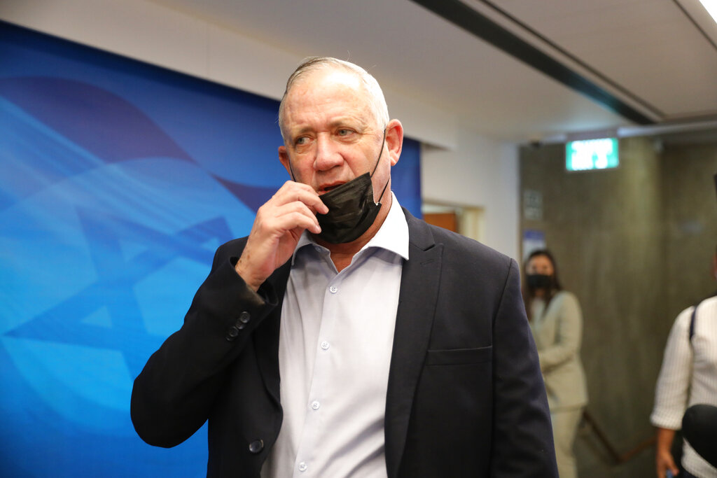 Il ministro israeliano Benny Gantz