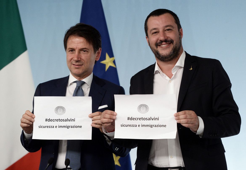 Settembre 2018: Conte e Salvini presentano i decreti sicurezza